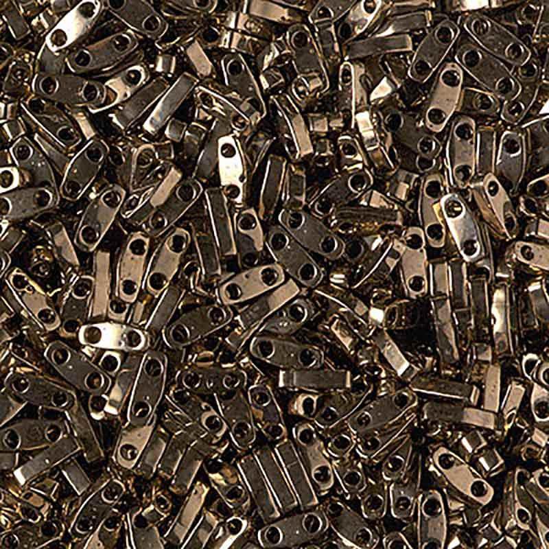 QTL-457 Metallic Dark Bronze Miyuki Quarter Tila SEED BEADS