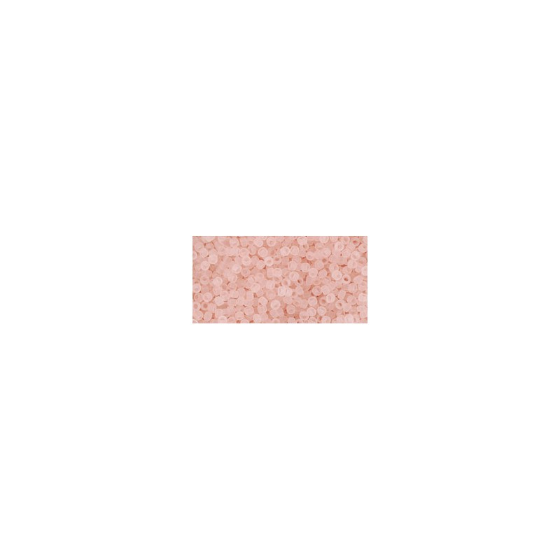 TR-15-11F Transparent-Frosted Rosaline TOHO Seed Beads