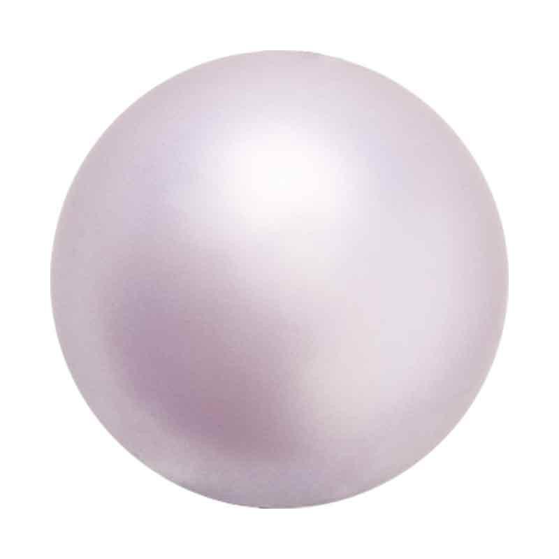 6MM Lavender Nacre Pearl round Preciosa