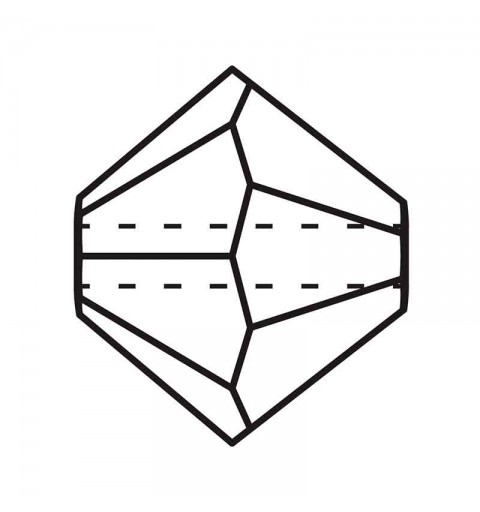 6MM Crystal Bi-Cone Rondell Preciosa Beads