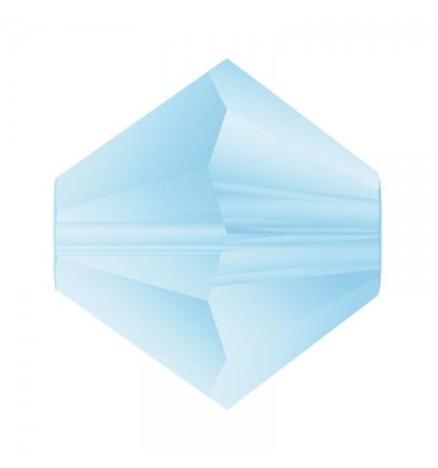 3MM Aqua Bohemica Matt Bi-Cone Rondell Preciosa Beads