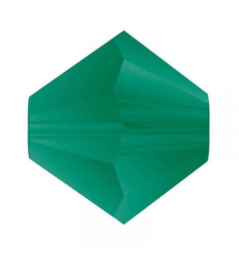 3MM Emerald Matt BiCone Rondell Preciosa Beads