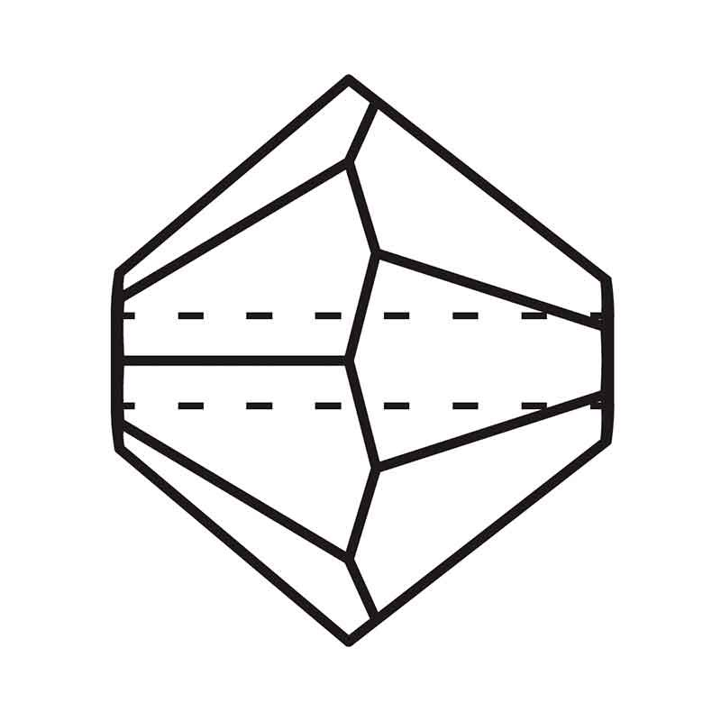 3MM Crystal AB Matt Bi-Cone Rondell Preciosa Beads
