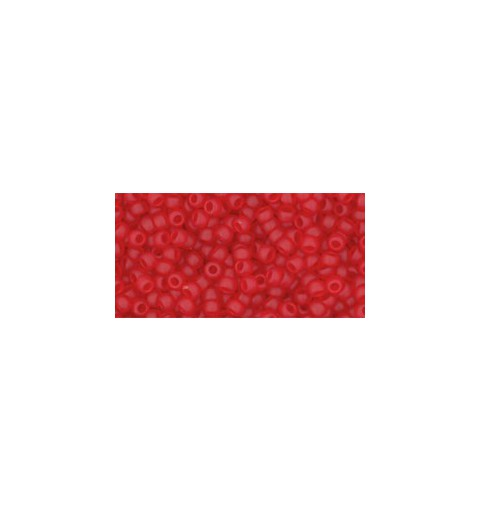 TR-11-5BF TRANSPARENT-FROSTED SIAM RUBY TOHO SEED BEADS