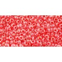TR-11-341 INSIDE-COLOR CRYSTAL/TOMATO LINED TOHO SEED BEADS