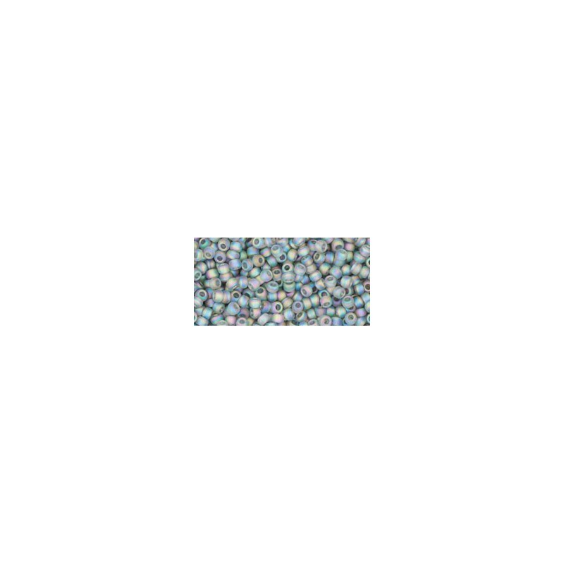 TR-11-176BF TRANS-RAINBOW-FROSTED GRAY TOHO SEED BEADS