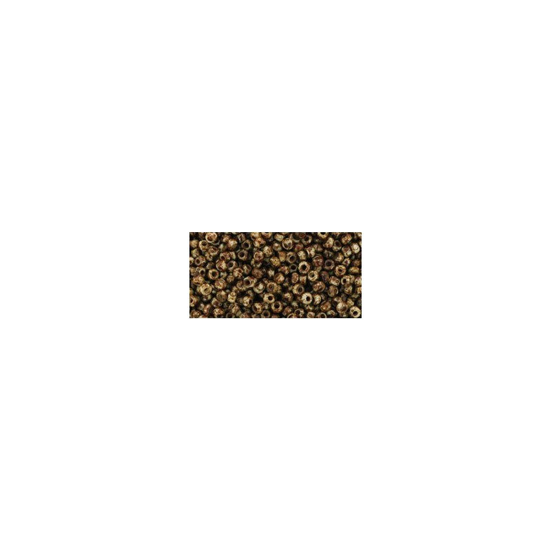 TR-11-Y306 HYBRID LT BEIGE PICASSO TOHO SEED BEADS