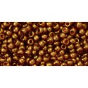 TR-11-421 GOLD-LUSTERED TRANSPARENT PINK TOHO SEED BEADS