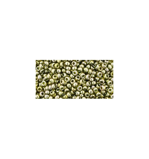 TR-11-457 GOLD-LUSTERED GREEN TEA TOHO БИСЕР