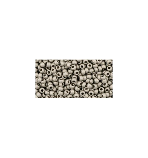 TR-11-566 METALLIC-SILVER-FROSTED ANTIQUE SILVER TOHO SEED BEADS