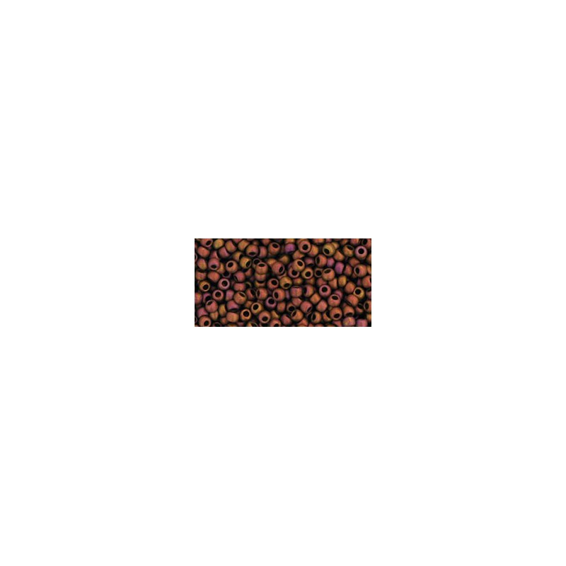 TR-11-514F HIGHER-METALLIC-FROSTED* COPPER TWILIGHT TOHO SEED BEADS