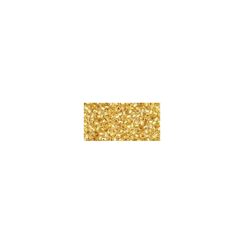 TR-11-701 24K GOLD LINED CRYSTAL TOHO SEED BEADS