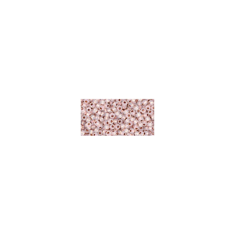 TR-11-741 COPPER-LINED ALABASTER TOHO SEED BEADS