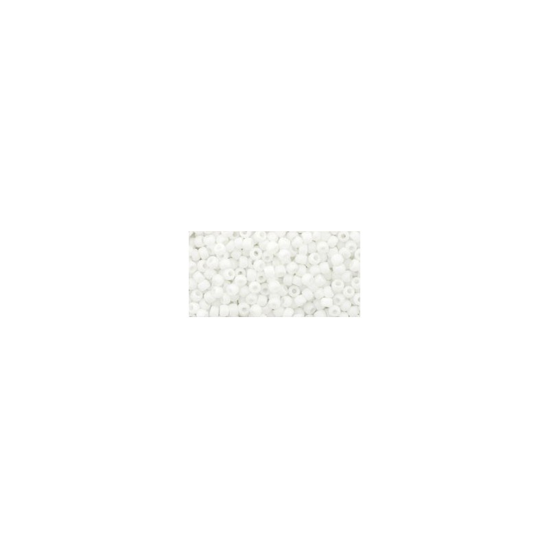 TR-11-761 MATTE-COLOR OPAQUE WHITE TOHO SEED BEADS