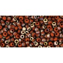 TR-11-Y855F HYBRID FROSTED TERRA COTTA APOLLO TOHO SEED BEADS