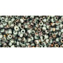 TR-11-Y856F HYBRID FROSTED LT BEIGE APOLLO TOHO SEED BEADS