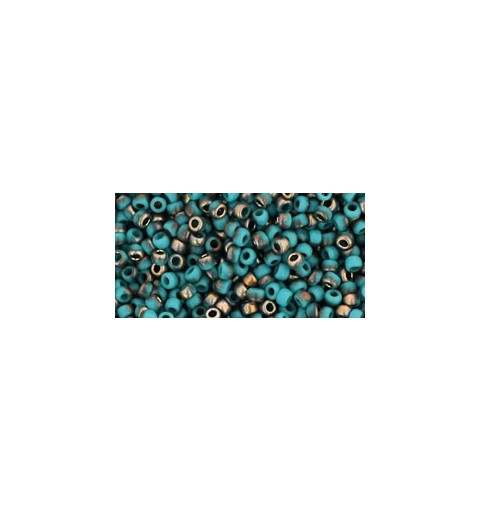 TR-11-Y857F HYBRID FROSTED TURQUOISE APOLLO TOHO SEED BEADS