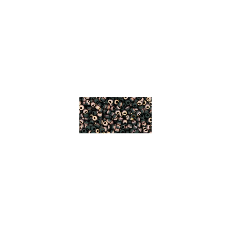 TR-11-Y852 HYBRID FROSTED JET APOLLO TOHO SEED BEADS