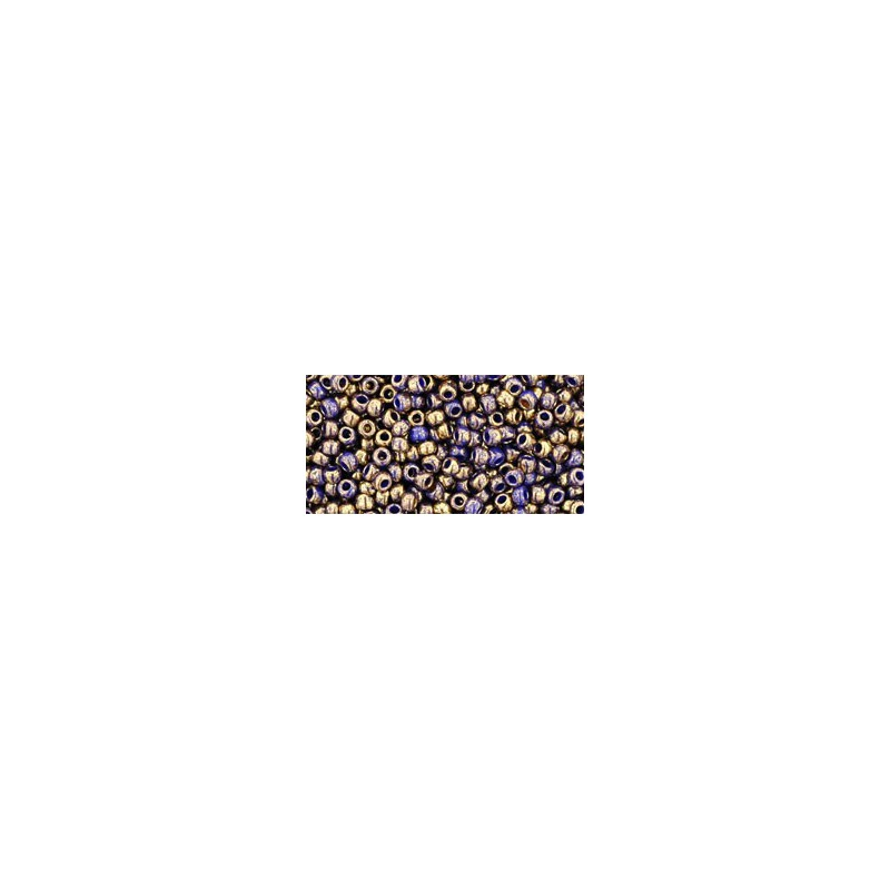 TR-11-1701 GILDED MARBLE BLUE TOHO SEED BEADS