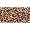 TR-11-1704 GILDED MARBLE LAVENDER TOHO SEED BEADS