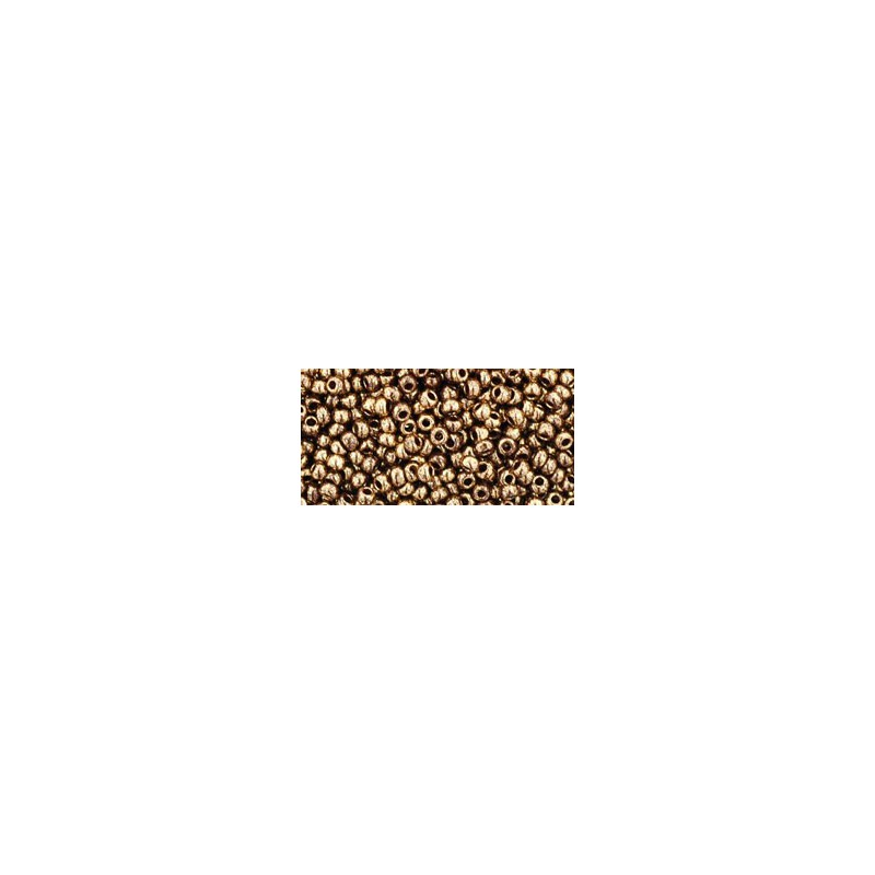 TR-11-1705 GILDED MARBLE BROWN TOHO SEED BEADS