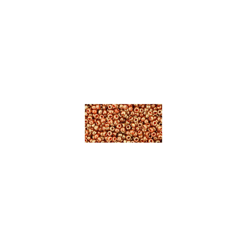 TR-11-1707 GILDED MARBLE ORANGE TOHO SEED BEADS