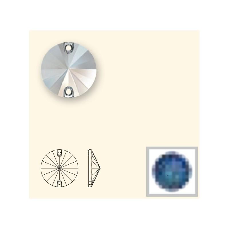 12MM Crystal Bermuda Blue (001 BBL) 3200 Rivoli SWAROVSKI ELEMENTS