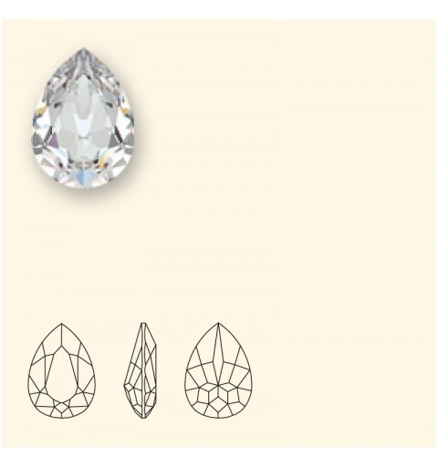 14x10mm White Opal F (234) Pear-Shaped Fancy Stone 4320 Swarovski Elements