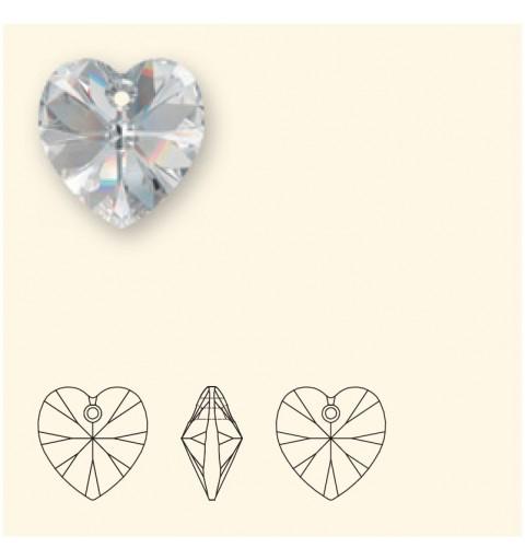 18x17.5MM Crystal Astral Pink (001 API) XILION Heart Pendants 6228 SWAROVSKI ELEMENTS