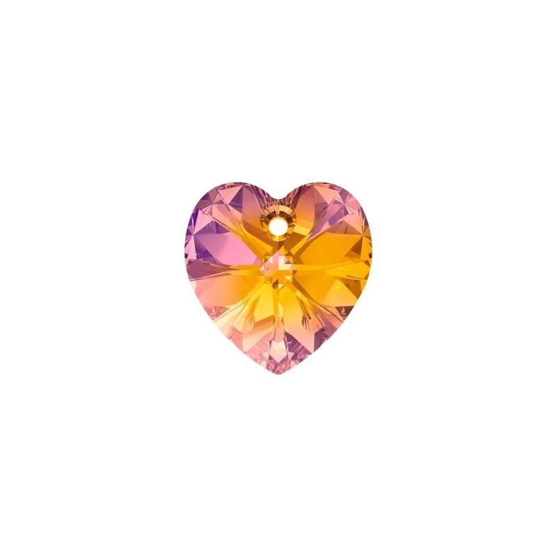 28MM Crystal Astral Pink (001 API) XILION Heart Pendants 6228 SWAROVSKI ELEMENTS