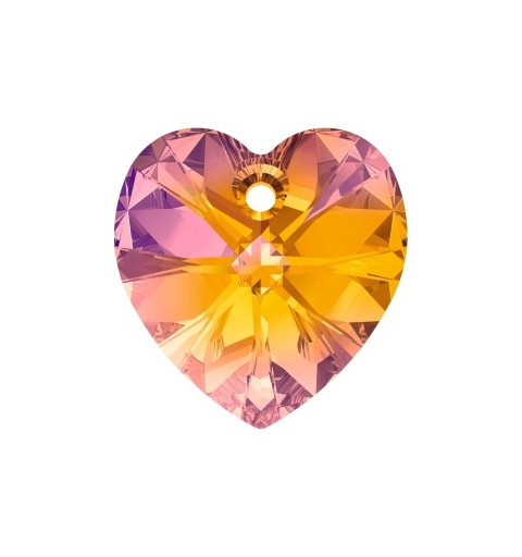18x17.5MM Crystal Astral Pink (001 API) XILION Heart Pendants 6228 SWAROVSKI ELEMENTS