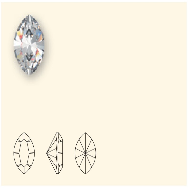 15x7mm White Opal F (234) XILION Navette Fancy Stone 4228 Swarovski Elements