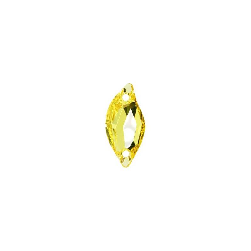 20x9MM Light Topaz F (226) 3254 Diamond Leaf SWAROVSKI ELEMENTS