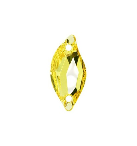 20x9MM Light Topaz F (226) 3254 Diamond Leaf SWAROVSKI ELEMENTS