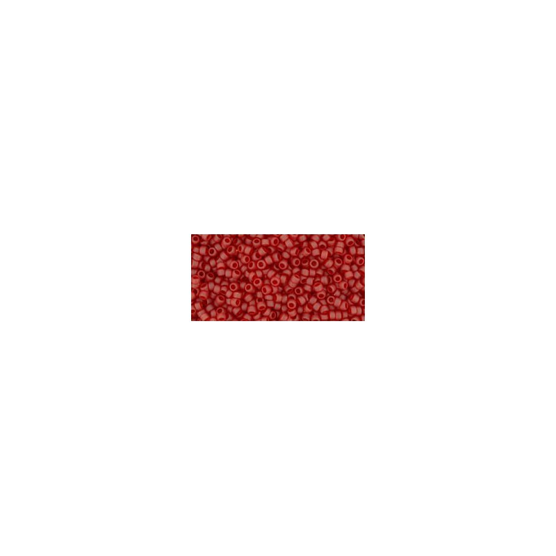 TR-15-5CF TRANSPARENT-FROSTED RUBY TOHO SEED BEADS