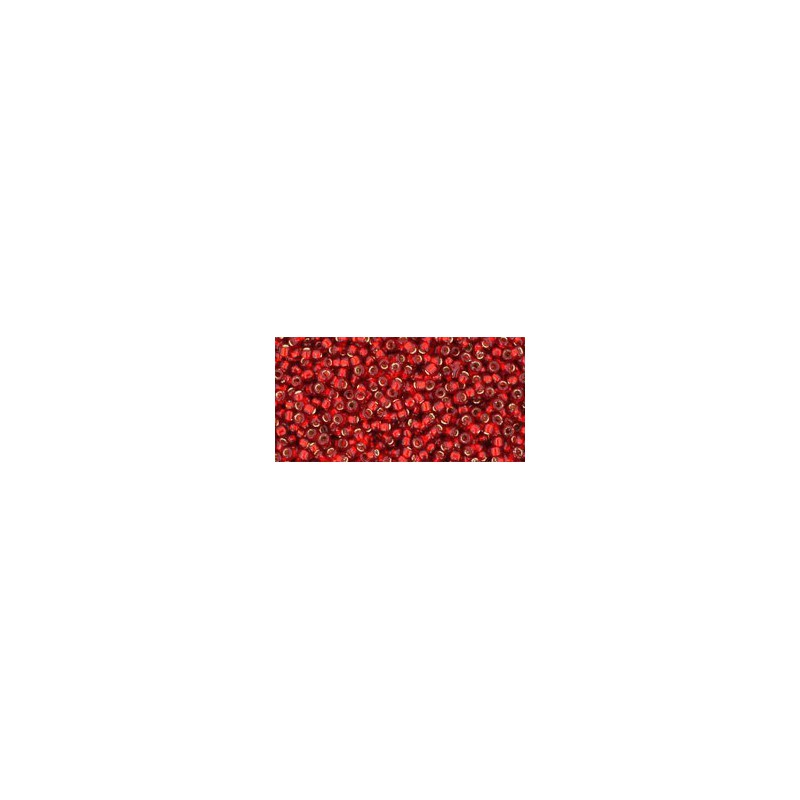 TR-15-25C SILVER-LINED RUBY TOHO SEED BEADS