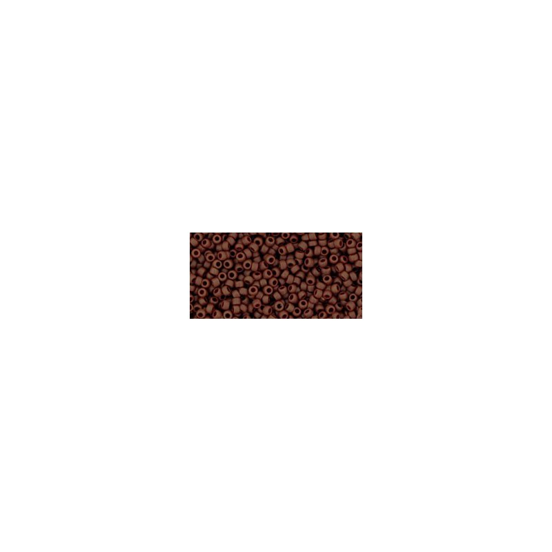 TR-15-46F OPAQUE-FROSTED OXBLOOD TOHO SEED BEADS