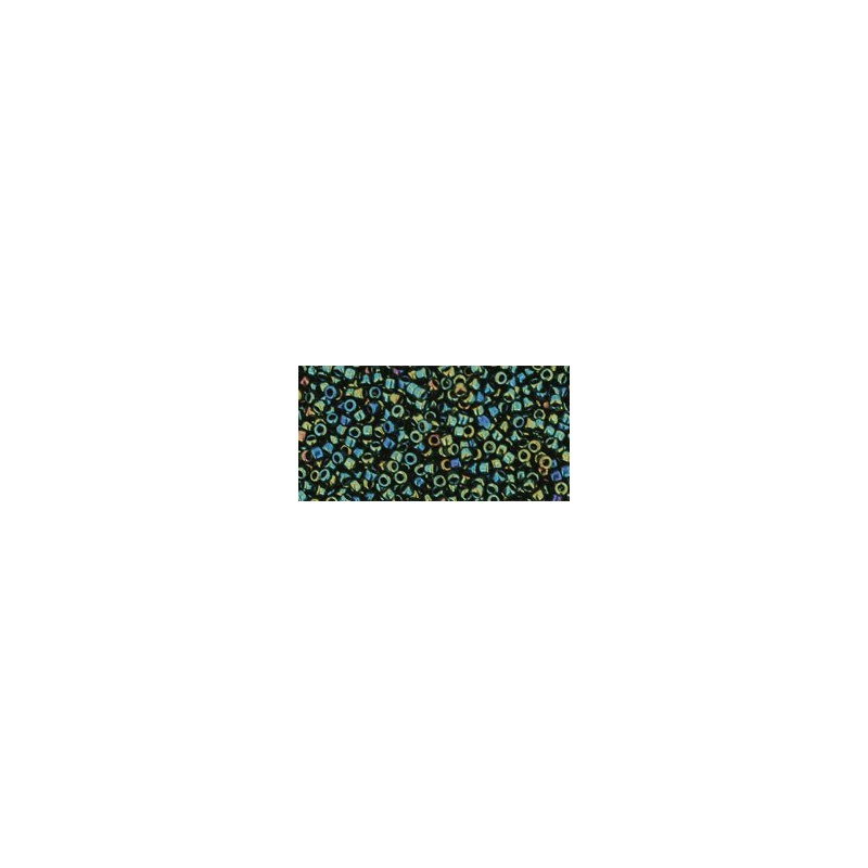 TR-15-2CF TRANSPARENT-FROSTED DARK TOPAZ TOHO SEED BEADS