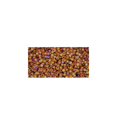 TR-15-162CF TRANS-RAINBOW-FROSTED DARK TOPAZ TOHO SEED BEADS