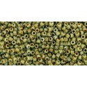 TR-15-Y312 HYBRID OPAQUE GRAY-PICASSO TOHO SEED BEADS