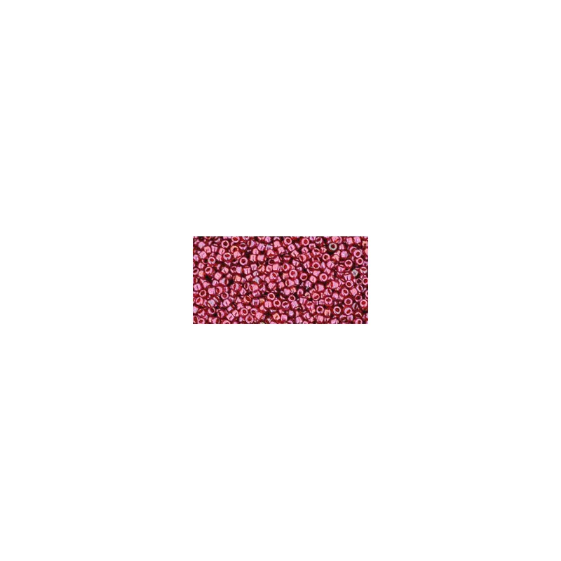 TR-15-332 GOLD-LUSTERED RASPBERRY TOHO SEED BEADS