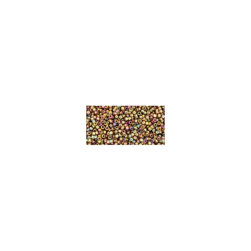 TR-15-459 GOLD-LUSTERED DARK TOPAZ TOHO SEED BEADS