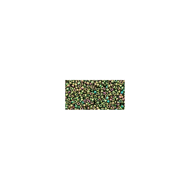 TR-15-508 HIGHER-METALLIC IRIS OLIVINE TOHO SEED BEADS