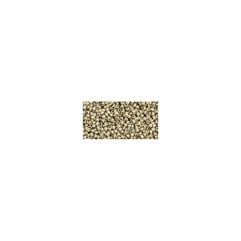 TR-15-PF558F PERMANENT FINISH-MATTE GALVANIZED ALUMIN TOHO SEED BEADS
