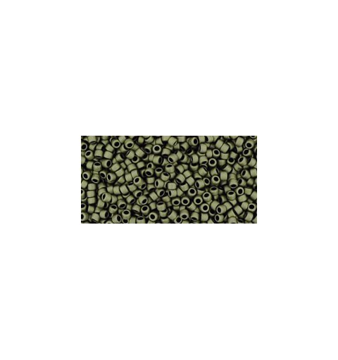 TR-15-617 MATTE-COLOR DARK OLIVE TOHO SEED BEADS