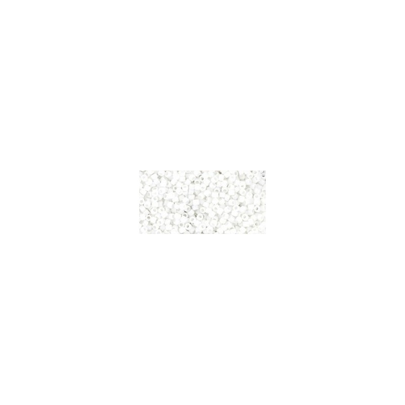 TR-15-761 MATTE-COLOR OPAQUE WHITE TOHO SEED BEADS