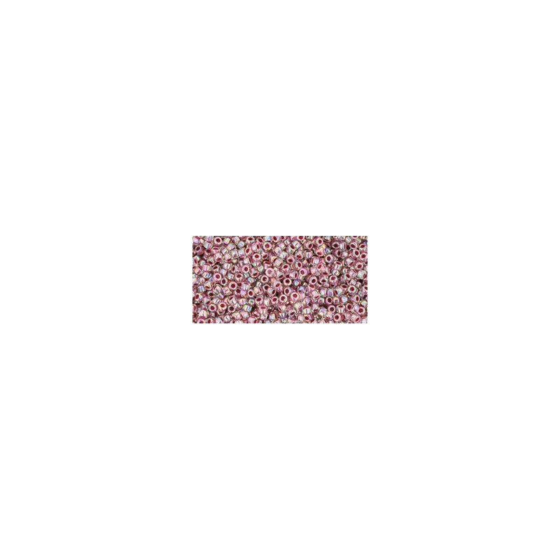 TR-15-771 INSIDE-COLOR RAINBOW CRYSTAL/STRAWBERRY LINED TOHO SEEMNEHELMEID