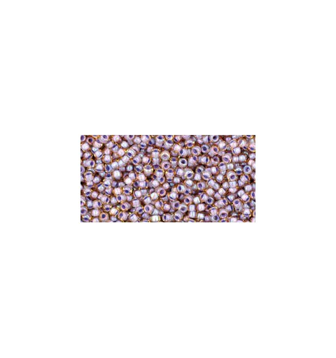 TR-15-926 INSIDE-COLOR LT TOPAZ/OPAQUE LAVENDER LINED TOHO SEED BEADS