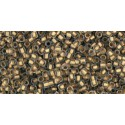 TR-15-989F FROSTED GOLD-LINED CRYSTAL TOHO SEED BEADS