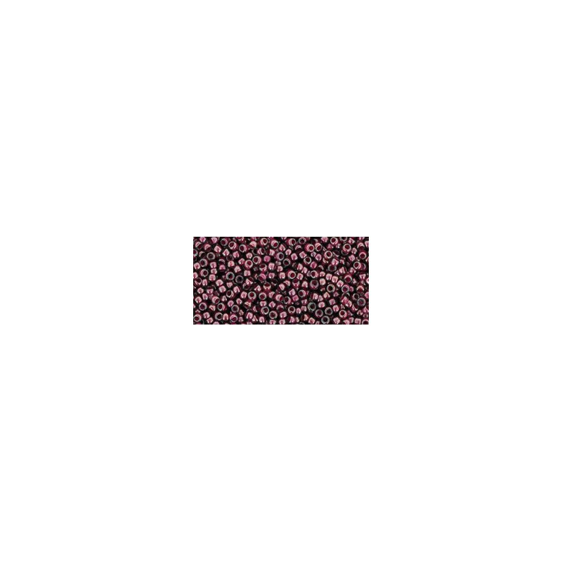 TR-15-1076 INSIDE COLOR GREY/MAGENTA LINED TOHO SEED BEADS